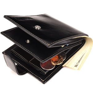 PU Leather Men Wallet Fashion Coin Pocket Men Leather Short Wallet