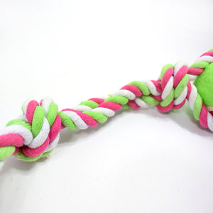 Large Double Knot And Tennis Pet Toy Cleaning Cotton Rope For Pets