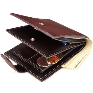Short Wallet Vintage Casual Men Wallet Purse Standard Holders Wallets