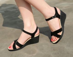Classical Women's Sandals Ankle Strap Rear