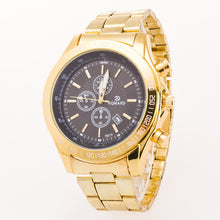 Analog Quartz Dual Tone Plate Business Watch with Calendar