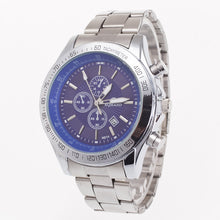 Silver Band Analog Quartz Watch Business Watch for Men