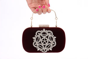 Velvet Rhinestone Evening Bags Multiple-color Bag