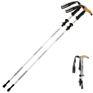 Outdoor Telescoping Walking Canes T-handle Tenacious Mounting Cane Hiking Walking Aids Stick Ski Fitness Trekking Poles