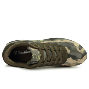 Camouflage Pattern Lace Up Athletic Kicks for Men