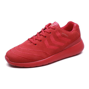 Faux Suede Vamp Fashion Lace Up Sneakers for Men