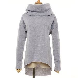 Christmas Clothes Women Winter Hoodies Scarf Collar Long Sleeve Fashion Casual Autumn Sweatshirts Rough Pullovers