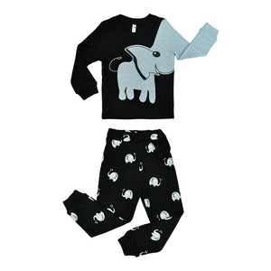 Elephant Nose Design Sleeves Boy's Novel Cute Sweatshirt Suit