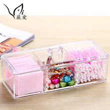 3 Space Multi-Functional Acrylic Cosmetic Storage Makeup Organizer with Lid (1 set)