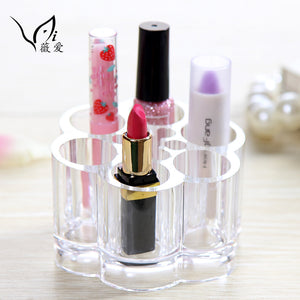 Acrylic Blossom Lipsticks Storage 6 Cells Cosmetic Organizer