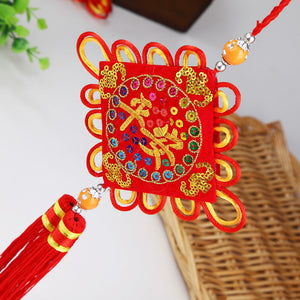 Creative Chinese Knot Sachets Wholesale And Ping An Embroidered Sachet Hanging Decorations