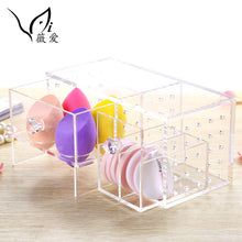 Acrylic Makeup Sponge Beauty Egg Storage Organizer with Draws (1 set)