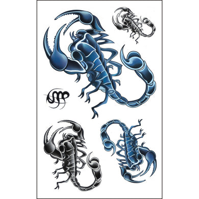 Extra Large Full Arm Temporary Tattoo Scorpion Tattoo Body Stickers (1 sheet)