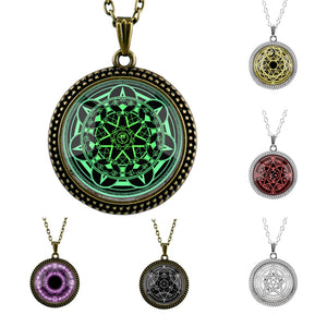 Magic Field Pattern Pendant Necklace for Men