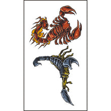 Body Art Stickers Removable Waterproof Temporary Tattoos Cartoon Scorpion Pattern (1 sheet)