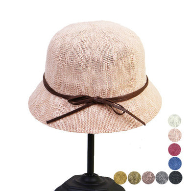 Ladies Sunscreen Linen Weave  Foldable Solid Color Basin Sun Hat