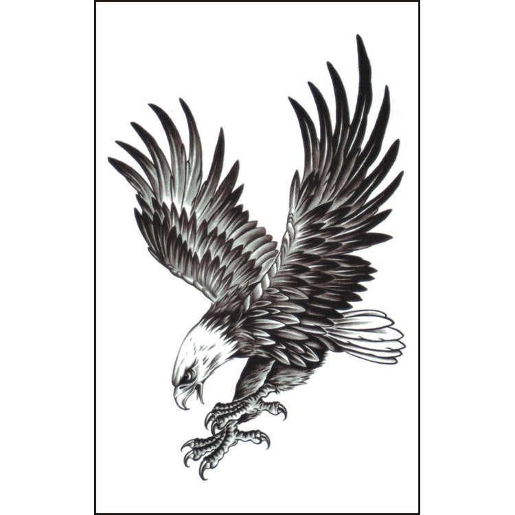 Extra Large Temporary Tattoos Full Arm Tattoo Stickers Eagle Pattern (1 sheet)