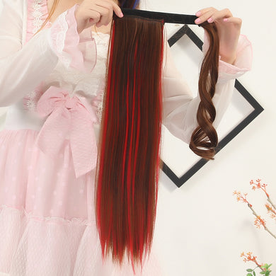 Long Straight Off Color Pony Tail Wig Clip-in Hair Extension