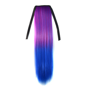 Color Contrast Off Color Long Straight 1 Clip Hair Extension