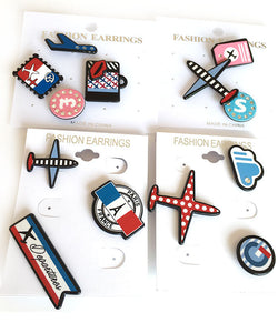 Airport Sets Resin Cartoon Sweater Clips (1 set)