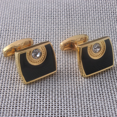 Insert The New Diamond Dripping Oil Polishing Vacuum Plating Gold Style Cuff Button Exquisite Cuff Button