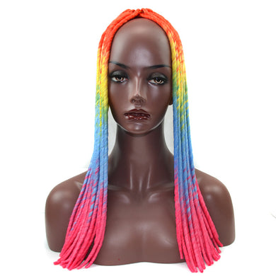 Crochet Braids Wigs Extensions Synthetic Hair 22 Inch Gradient Color Twist