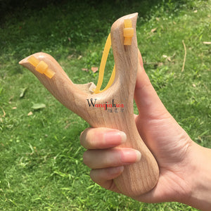 Solid Wooden Slingshot Toys with Classic Construction Hunting Slingshot for Catapult Game, Outdoor, Hunting-for Kids/Children