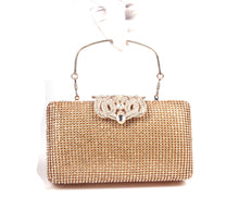 Solid Color Crown Clutch Square Rhinestone Evening Bags