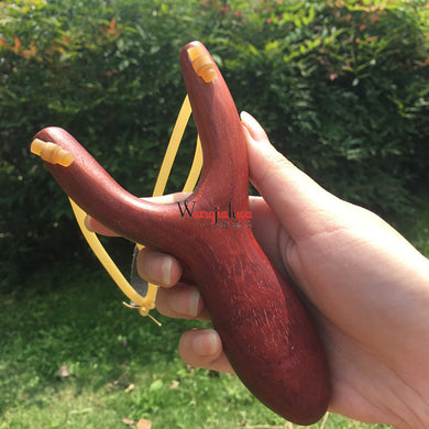 Wooden Pear Slingshot Solid Wood Slingshot Chicken Wing Adult  Playing Birds Playing Pheasant Children Outdoor Classic Toys