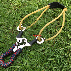 Hunting Article Slingshot Catapult Hard Alloy Alumunium Springs Boutique Slingshot Flying Horse