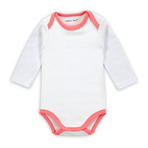 Cotton Long-sleeved White Onesies for Baby