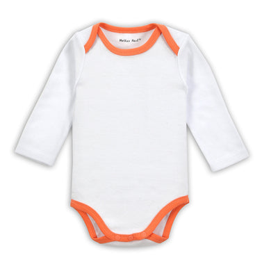 Orange Rim White Long-sleeved Baby's Onesies