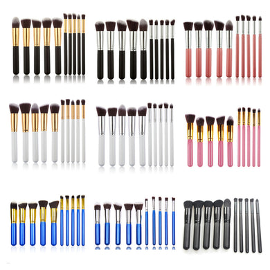 10 pcs/Set Synthetic Makeup Brushes 20mm Tube Makeup Brushes Set (1 set)