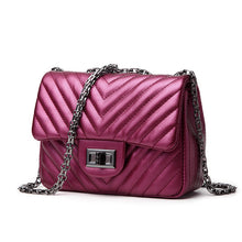 Pinstripes Design Solid Color Business and Casual Chain Bag
