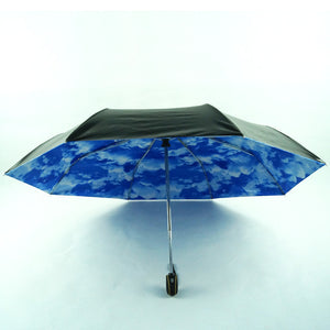 Blue Sky and Clouds Pattern 3 Folding Umbrella