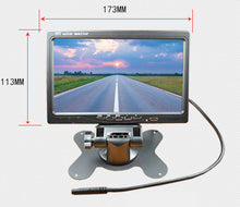 7-Inch Desktop Display Car Backed Up With A Rear View Monitor