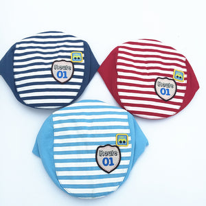 The Striped Children's Cap Baby Hat For The Spring And Autumn Period