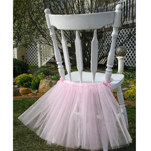 Fluffy Tutu Chair Skirt Slipcovers For Party,Wedding,Birthday Party&Home Decoration