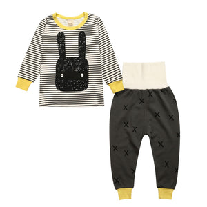 Baby Boys Cotton Clothing Belly Printed  Crotch Suits