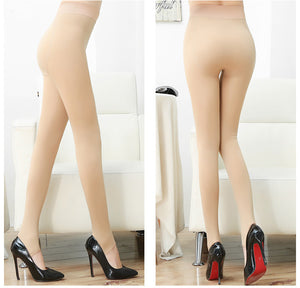 Solid Color Stirrup Flannel Lining Leggings Stockings (1 pair)