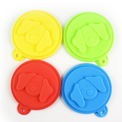 Pet Three - Layer Silicone Can Cover Dog Food Cover Three-In-One Dog Bowl