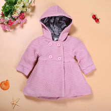 Girl Baby's Dress Coat Solid Color with Hoodies