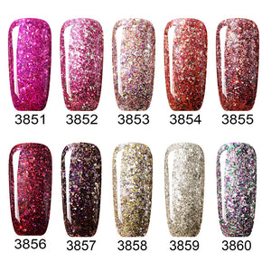 DIAMOND Glitter Nail Art Nail Polish Gel 20 Colors Optional