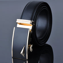 Black Band Casual Business Alloy Buckle Belts