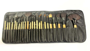 24pcs/set Wooden Handle Makeup Brushes 4 Colors Optional (1 set)