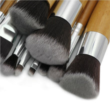 11 pcs/Set Wooden Handle Eco-friendly Makeup Brushes Set (1 set)