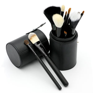 12 pcs/Set Woolen Nylon Makeup Brushes Set (1 set)