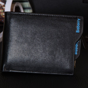 Men Purse PU Leather Male Wallets Card Coin Wallet
