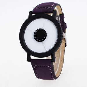 Novel Design Simple Style Fashion Black Plate Wrist Watch