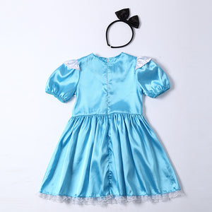 Kids Housemaid Dress Costume Halloween Costume For Girls Stage & Dance Wear Children Maid Party Cosplay Short Sleeve Skirt